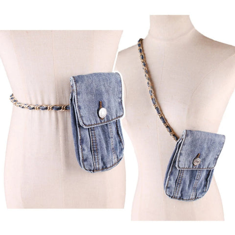 DENIM CHAIN BELT