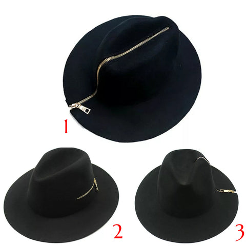 Zipper Fedora Hat