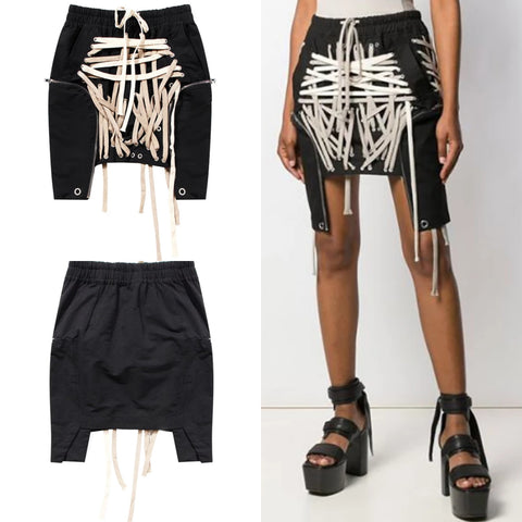 Asymmetrical Short Mini Skirt