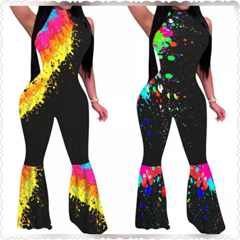 SPLATTED JUMPSUIT