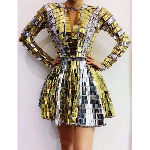 MAGNIFICENT CUSTOM MIRROR DRESS