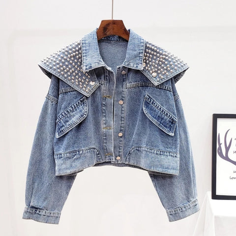 Removable Shawl Denim Jacket