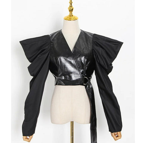 PU Leather Shirt