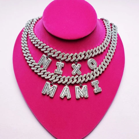 Bedazzle Custom Name Necklace