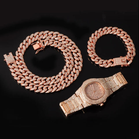 13MM 3pcs Rose Gold