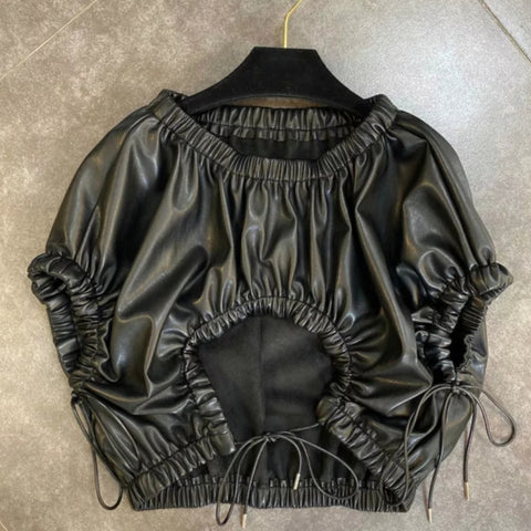 SHOW OFF PU LEATHER TOP