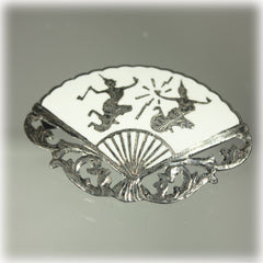 Siam Sterling White Fan Brooch Mekhala Ramasoon