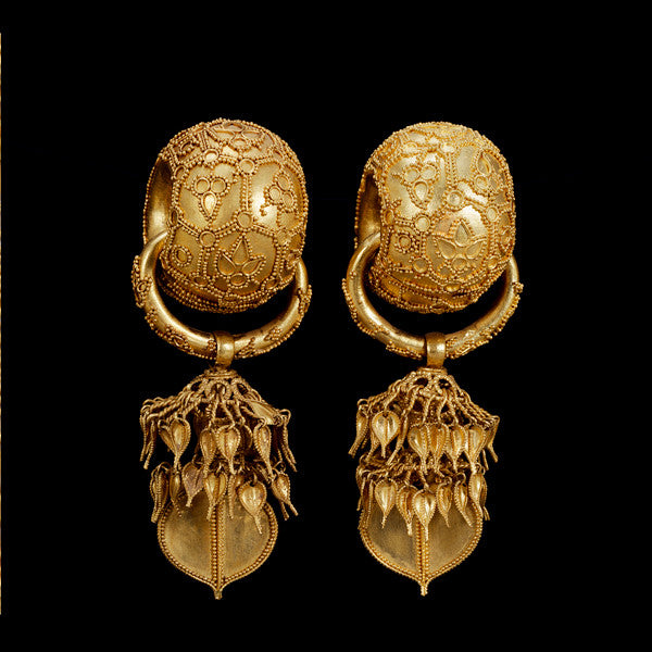 Etruscan Revival Granulation Earrings