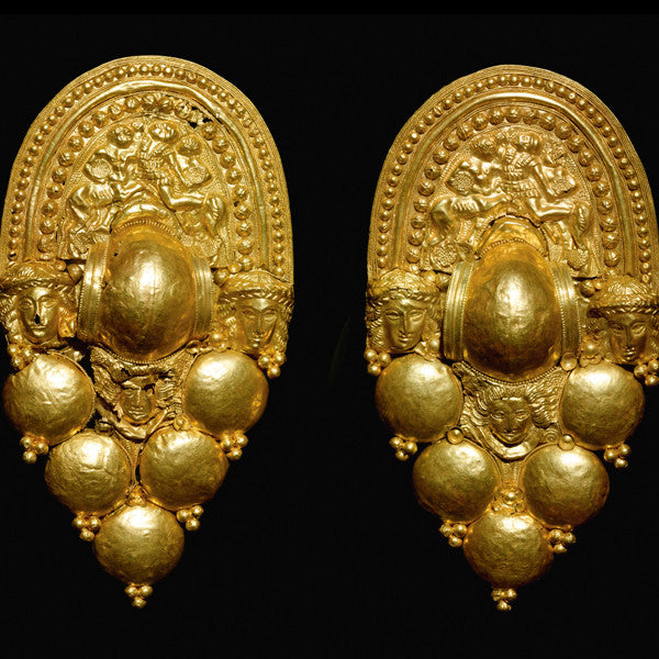 Etruscan Repousse Earrings