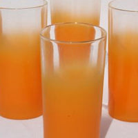 Orange frosted drinkware
