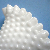 White milk glass hobnail