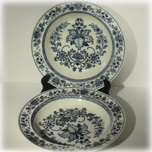 Two Antique Wedgwood Blue and White Transferware Soup Bowls