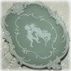 Arnart green jasperware wall plaque
