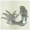 Sterling Silver Figural Pin, Taxco Brooch, Mexico Silver Pin