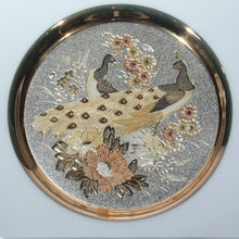 Vintage Art of Chokin Gilded Peacock Small Plate