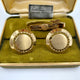 Hickok gold tone round cuff links