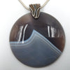 Sterling Silver and Agate Pendant