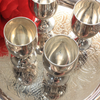 Leonard Silverplate Cordial Cups and Serving Tray, EPNS Eloctroplated After Dinner Drink, Barware