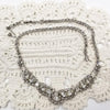Clear rhinestone bib necklace for your wedding
