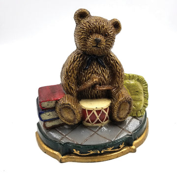 Vintage Cast Iron Teddy Bear Doorstop