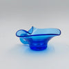 vintage blown glass cobalt blue candy dish