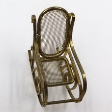 Miniature Dollhouse Brass Bentwood Rocking Chair