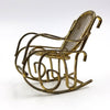 dollhouse brass rocking chair