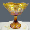 Indiana Harvest Grape gold carnival glass