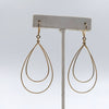 double gold plate sterling earrings