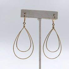 Gold Plate Sterling Silver Double Hoop Pierced Earrings