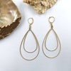 teardrop gold plate sterling earrings
