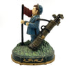 cast iron boy golf caddy door stop