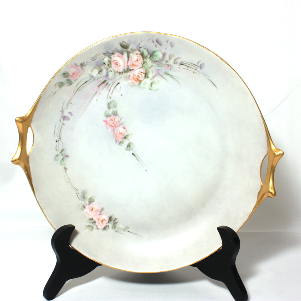 Hutschenreuther Selb Hand Painted Tidbit Cake Plate Marie Buhl Bavaria