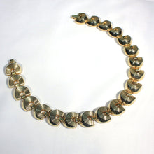 Modernist Gold Tone Chunky Choker Necklace