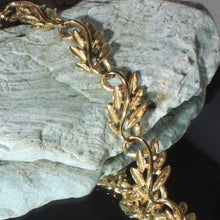 Vintage Napier Gold Tone Leaf Choker Necklace, Mid Century, Delicate, Textured, 1950s Jewelry, Classic