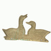 Brass Duck Wall Plaque Key Holder, Vintage Rustic Home Decor