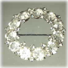Rhinestone Wreath Brooch, Wedding, Bridal Jewelry