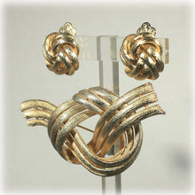 Vintage Lisner Knot Earrings and Brooch