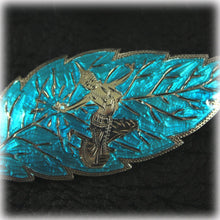 Siam Sterling Silver Aqua Blue Brooch and Matching Earrings