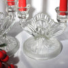 depression glass candle holders