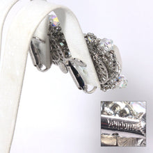 Coro Vendome White Cluster Earrings, White and Silver Mid century Abstract Traditional Earrings