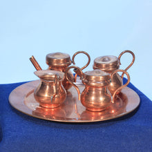 Miniature Copper Coffee or Tea Service for Dollhouse