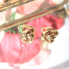 Dainty Gold Tone Knot Earrings, Petite and Modern Clip on Earrings