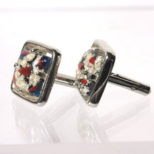 Hickock Silver Cufflinks, Modern, Abstract, Lucite Confetti, Mens Formal Wear, Wedding, Tuxedo Set