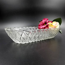 Indiana Glass Mid Century Pretzel Pattern Celery Tray / Oblong Bowl