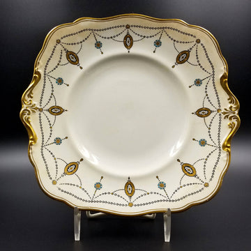 1913 Antique Paragon China Square Dinner Plate