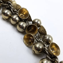 Pale Gold Bells and Silver Balls Chunky Charm Bracelet