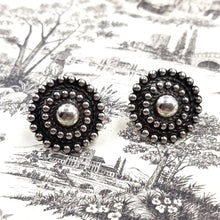 Sterling Silver Circular Bulls Eye Earrings
