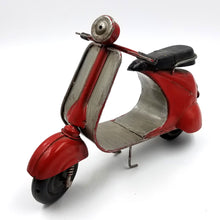 Red and Silver Steel Vintage Scooter Toy