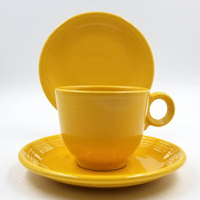 Early Yellow Fiestaware Cup and Saucer with Bread Plate / Snack Plate